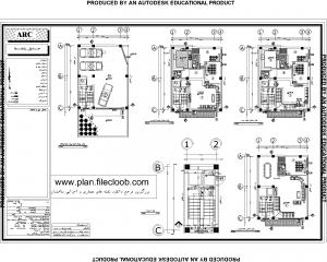 دانلود نقشه های معماری ساختمان